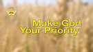 Make God Your Priority
